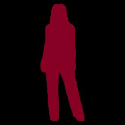 Mujer posando siluetas de personas silueta
