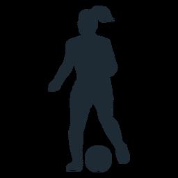 Frau läuft mit Ballschattenbild