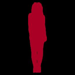 Mujer de pie silueta roja