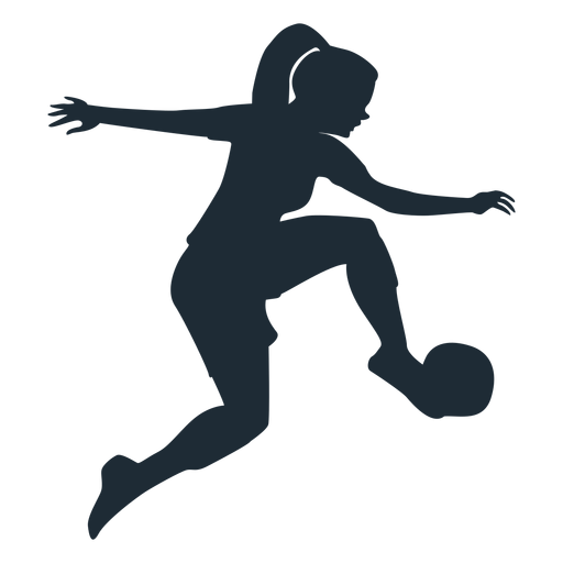 Woman stopping high ball silhouette