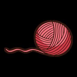 Dibujos animados de bola de hilo de lana