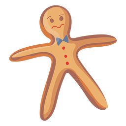 Worried face gingerbread cookie