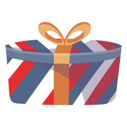 Wrapped present box element