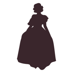 Young mexican woman character silhouette