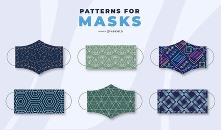 Conjunto de patrones de mascarilla