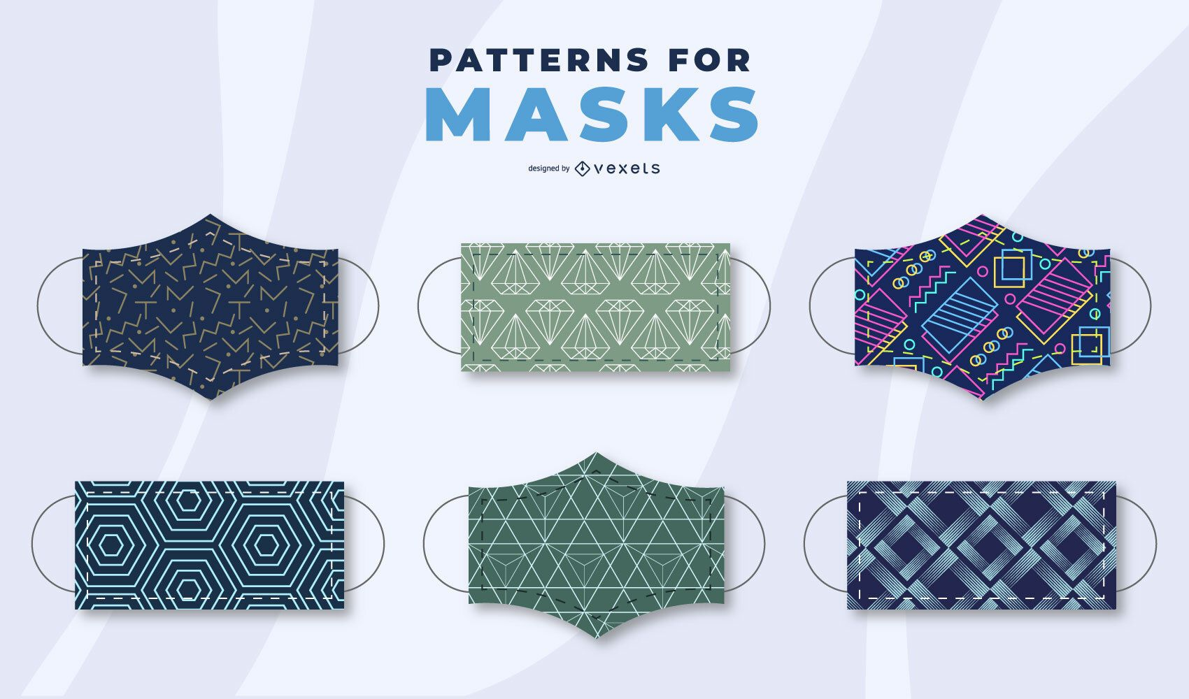 Conjunto de patrones de m?scara facial