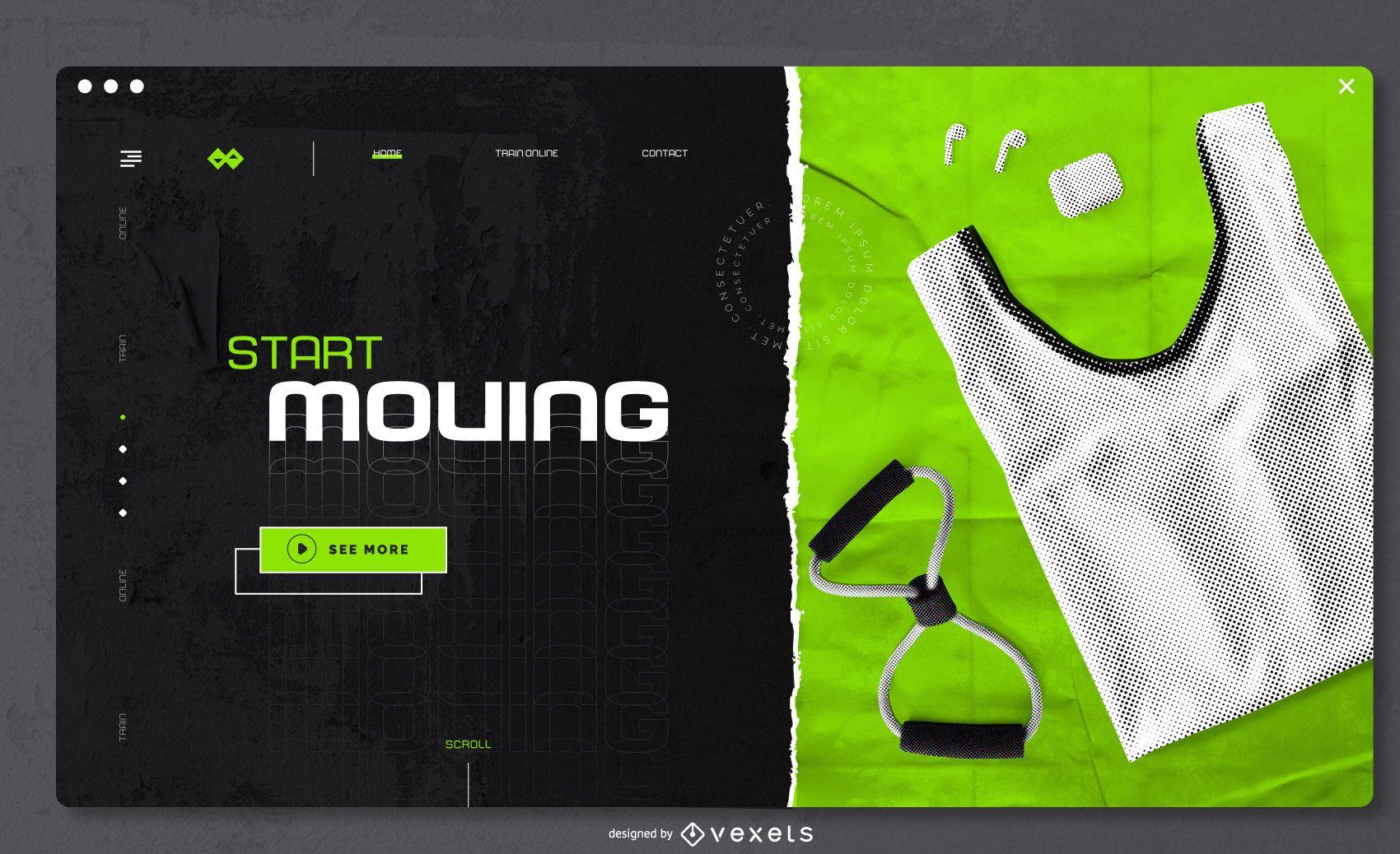 Home Workout Web Slider Design