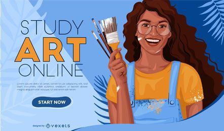 Online Art Study Web Slider Design