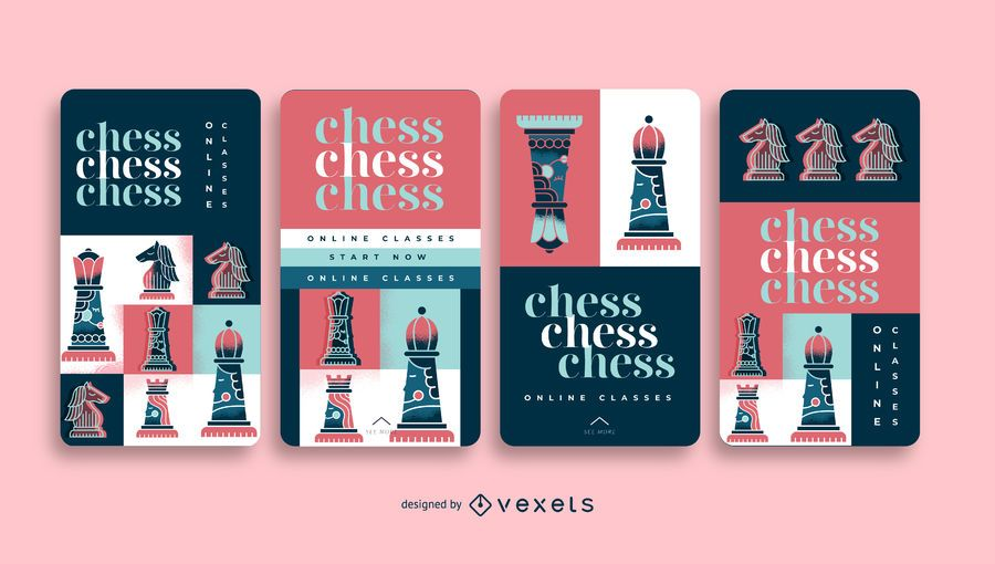 Chess Courses Social Media Story Pack