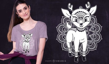 Baby Mandala Deer T-shirt Design