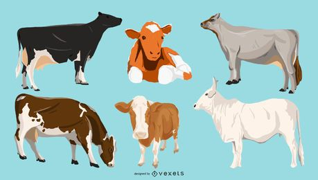 Cows illustration pack