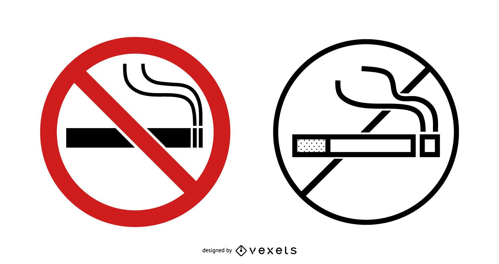 No Smoking Sign Set