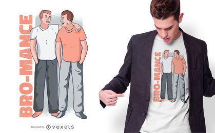 Diseño de camiseta Bro-mance