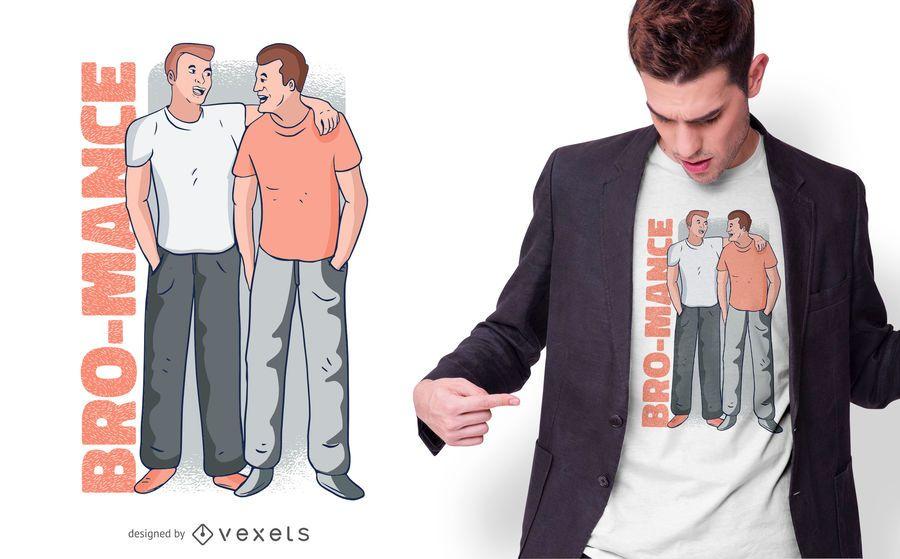 Design de t-shirt de bro-mance