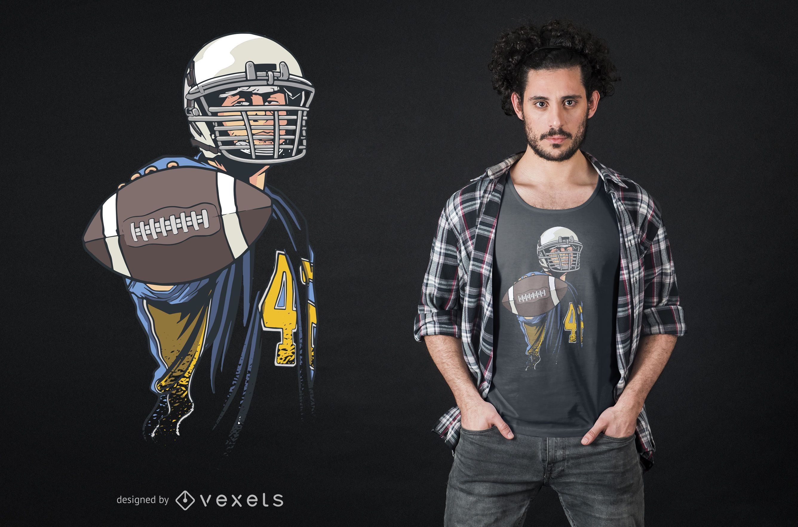 Design de camiseta masculina de futebol americano