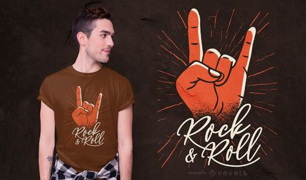 Design de camiseta rock & roll