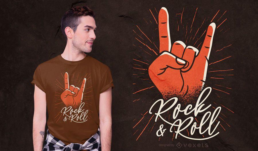 Design de camiseta rock & roll
