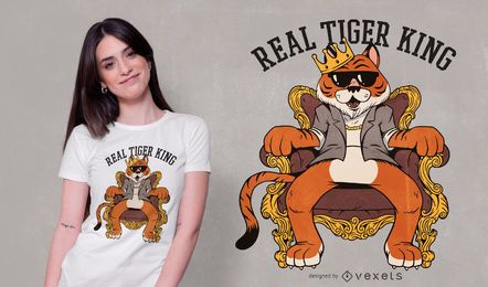 Design real de camiseta do rei tigre