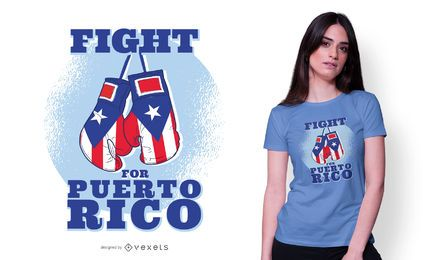 Fight for Puerto Rico T-shirt Design