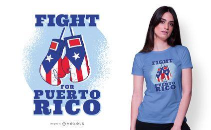 Kämpfe für Puerto Rico T-Shirt Design