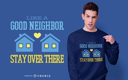 Design engraçado do t-shirt das citações da estada em casa
