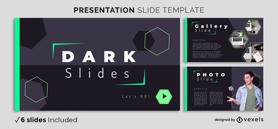 Dark Geometric Presentation Template