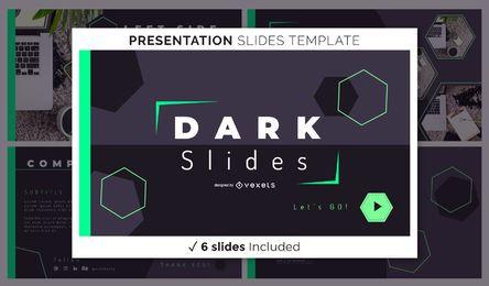 Modelo de apresentação geométrica escura