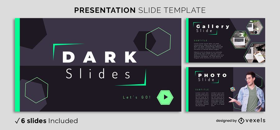 Plantilla de presentación geométrica oscura