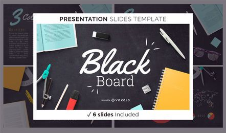 Modelo de apresentação do quadro-negro de educação