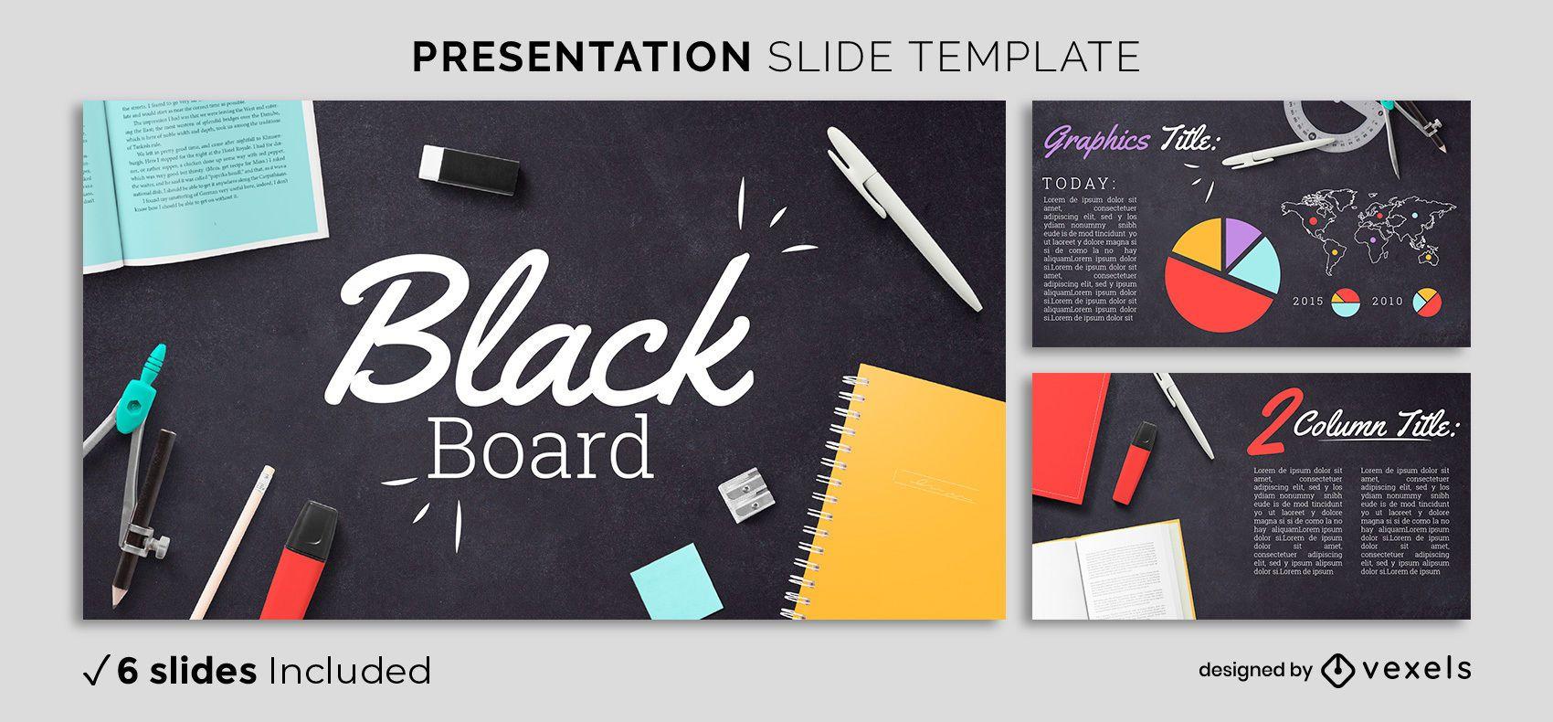 Modelo de apresentação do quadro negro educacional
