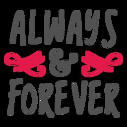 Sempre e para sempre letras