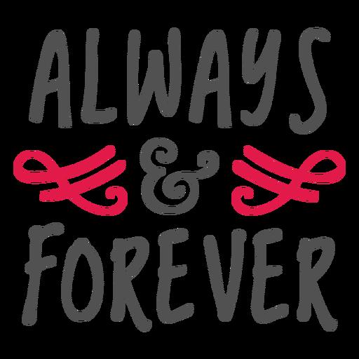Letras sempre e para sempre
