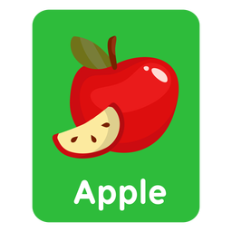 Apple vocabulary flashcard