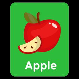 Tarjeta de vocabulario de Apple
