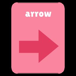 Arrow shape flashcard
