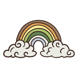 Hermosa ilustración del arco iris