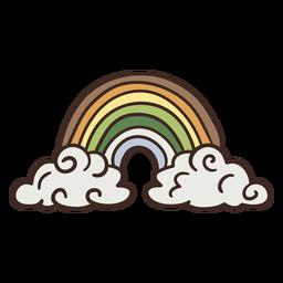 Ilustração de lindo arco-íris