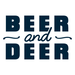 Bier- und Hirschabzeichen