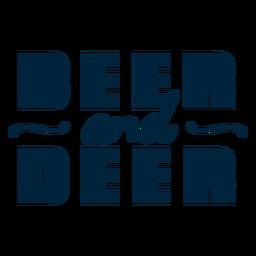 Insignia de cerveza y ciervos