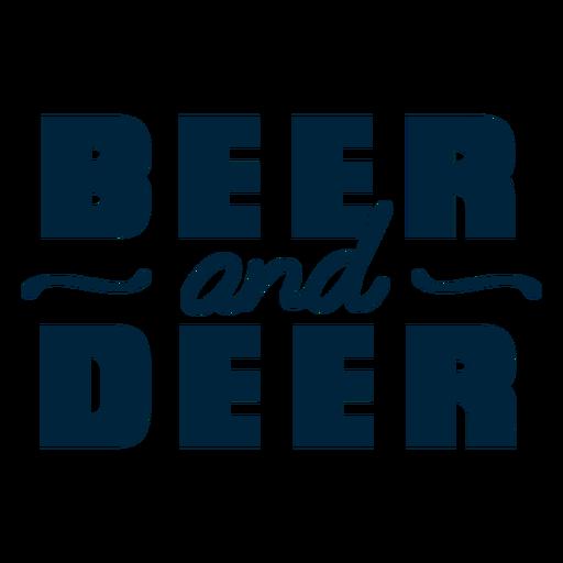 Beer and deer badge