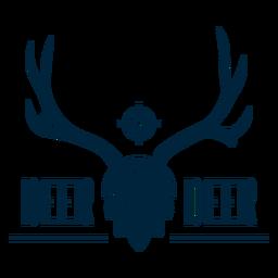 Distintivo de veado de cerveja