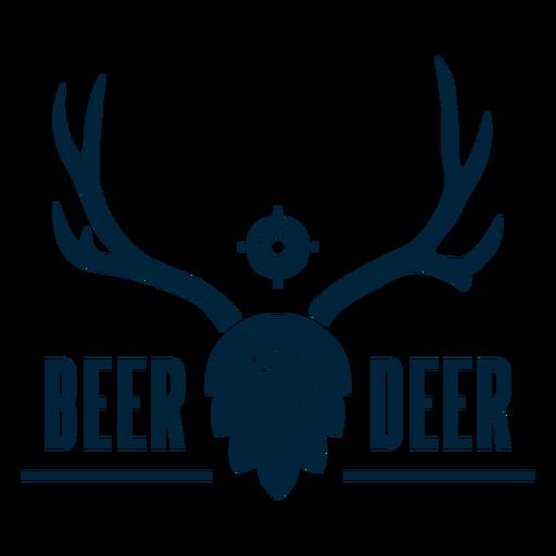 Beer deer badge