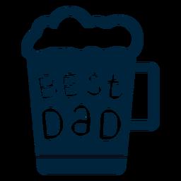 Melhor dia dos pais do crachá do pai