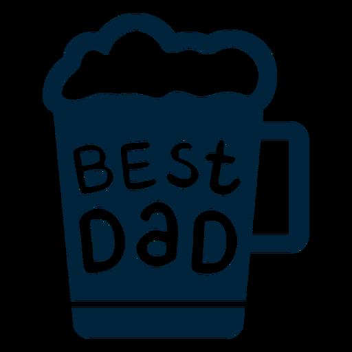 El mejor día del padre de la insignia de papá Transparent PNG