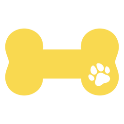 Bone dog footprint flat