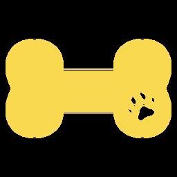 Huella de perro hueso plana