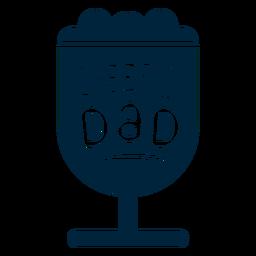 Saludos insignia de papá