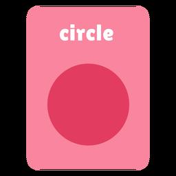 Circle shape flashcard