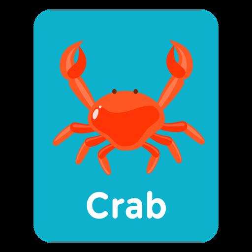 Flashcard de vocabulario de cangrejo