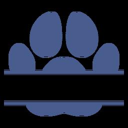 Huella de perro cruzada plana